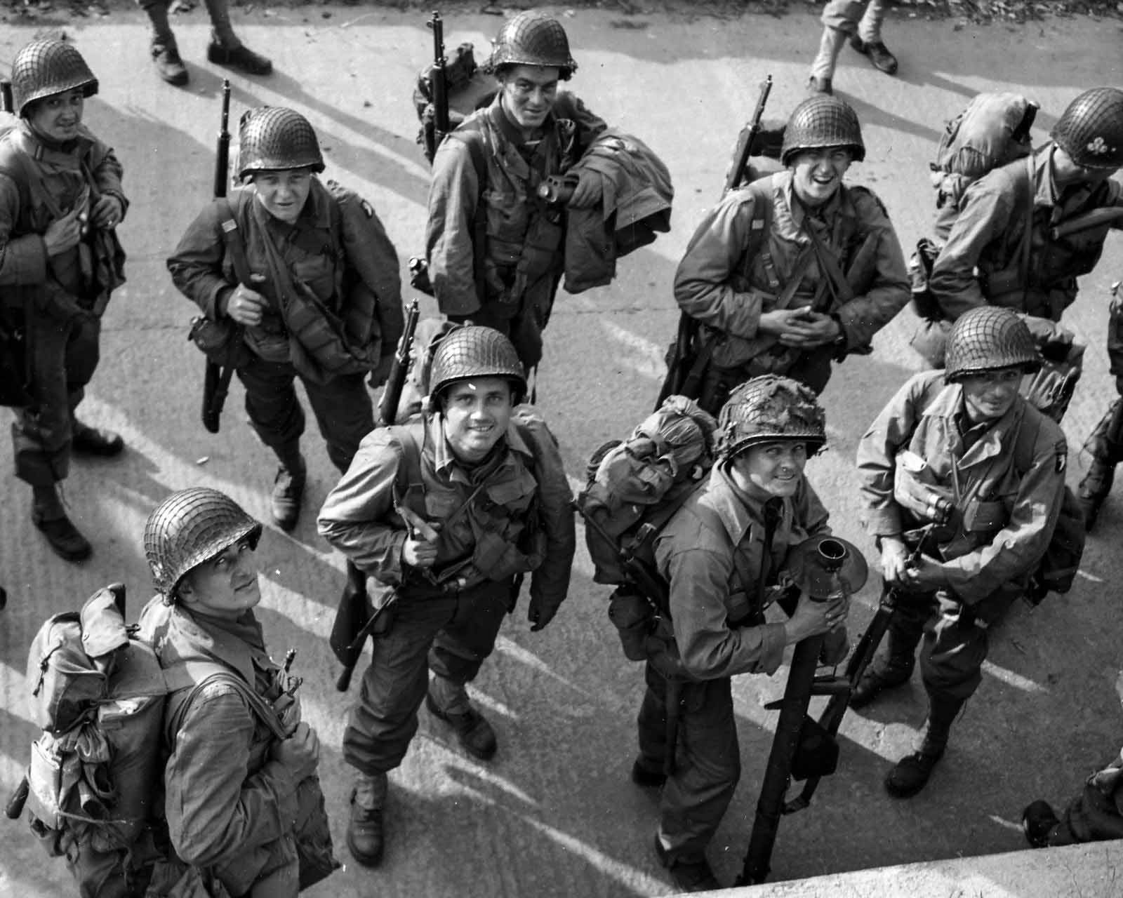 101st Airborne Division Paratroops Assembling at RAF Exeter