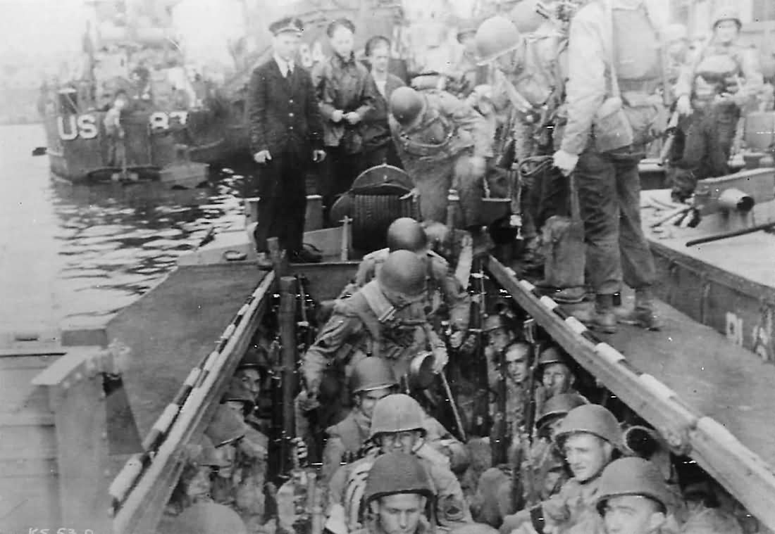 5th Rangers Embark at Weymouth for D-Day Invasion of Omaha Beach
