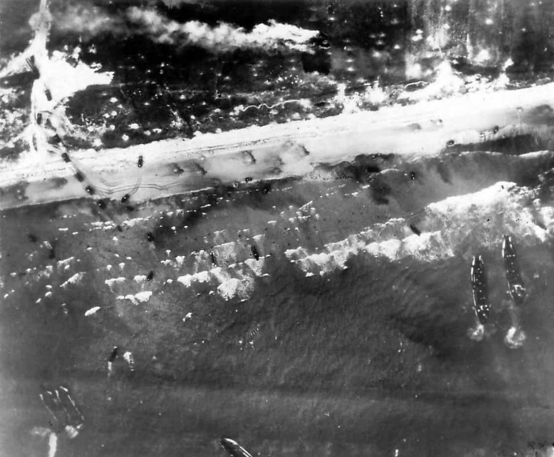 Aerial View of US D-Day landing on Normandy's Utah Beach