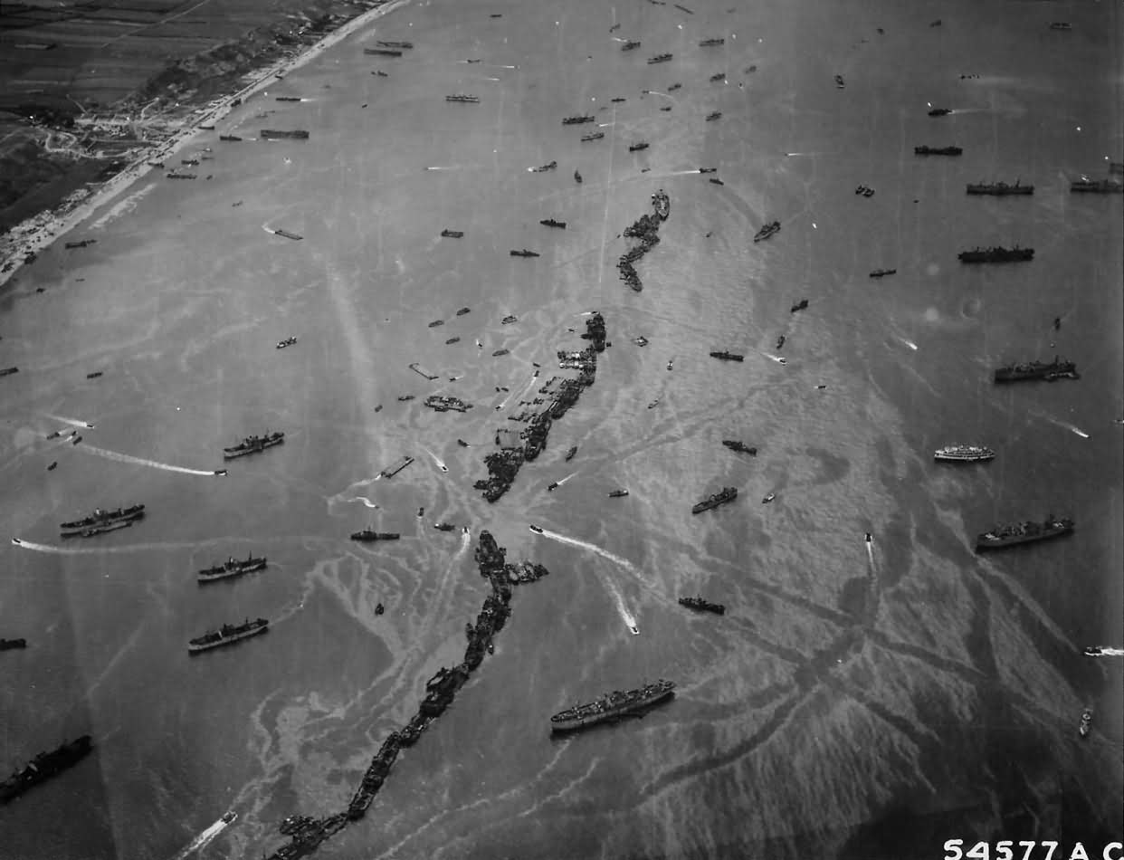 American Liberty Ships Scuttled off D-Day's Omaha Beach