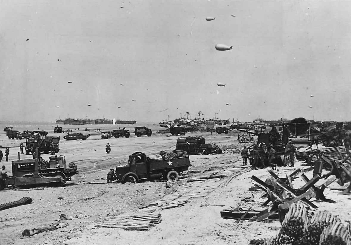 Beach organisation clearing vehicles British Sector D-Day Beach