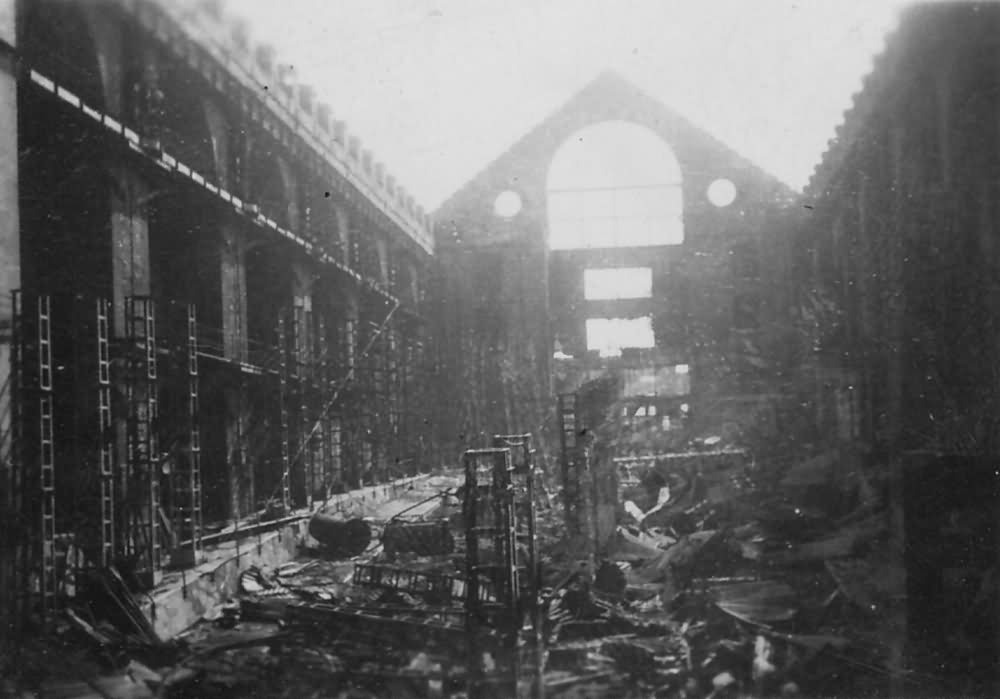Bombed Building Factory Nr Vierville Normandy June 1944