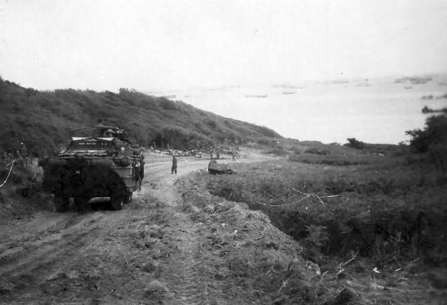 DUKW Amphibious Moving Off Omaha Beach D-Day 1944