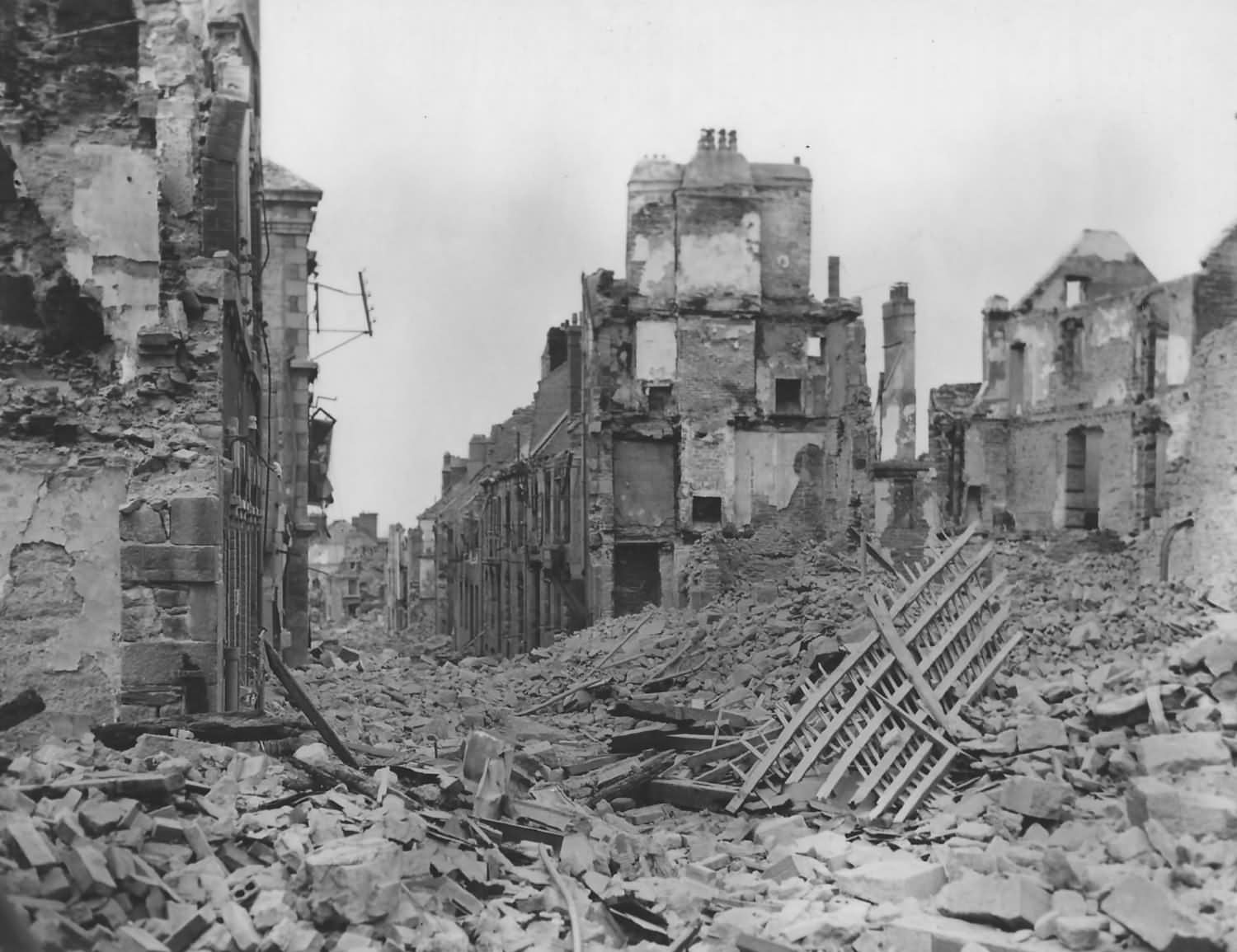 Destruction in Vire Normandy France 1944