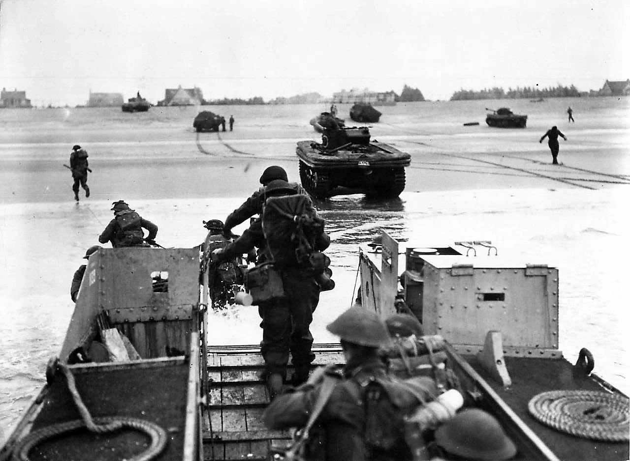 East Yorkshire Regiment Land at Queen Red Sector, Sword Beach D-Day