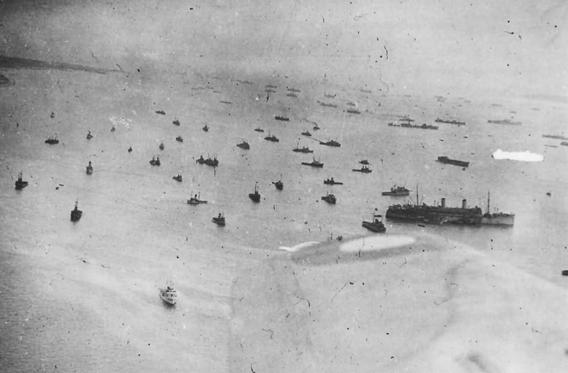 Fleet Massed off Isle of Wight for D-Day Invasion of France 1944