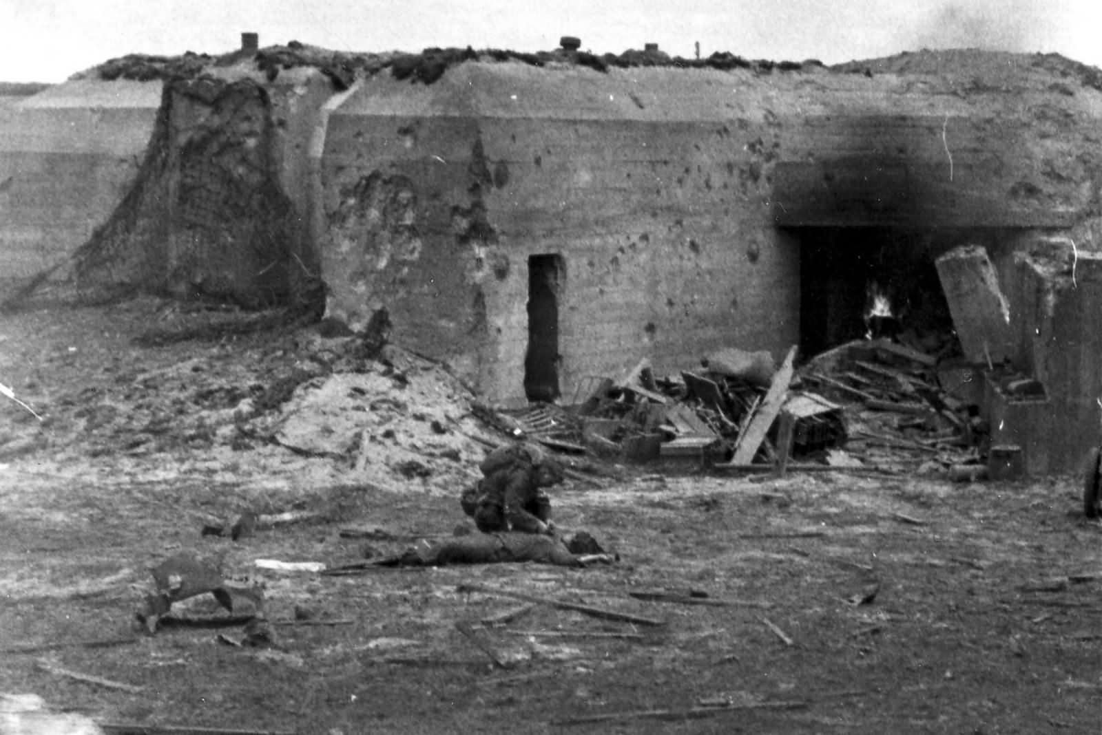 German Bunker Normandy June 6 1944 D-Day