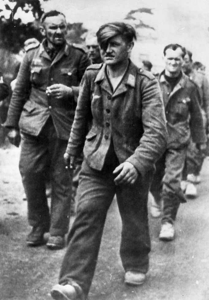 German prisoners near Cherbourg 1944
