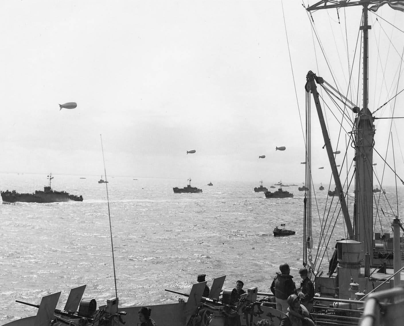 Invasion Fleet For D-Day Normandy 1944 Operation Overlord