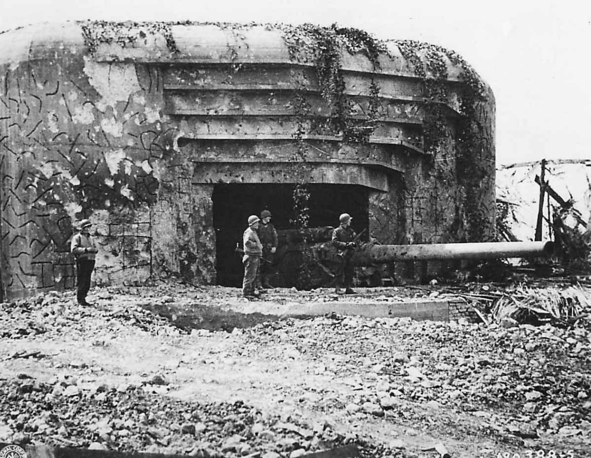 Knocked Out Crisbecq Battery off Utah Beach at Saint Marcouf Normandy