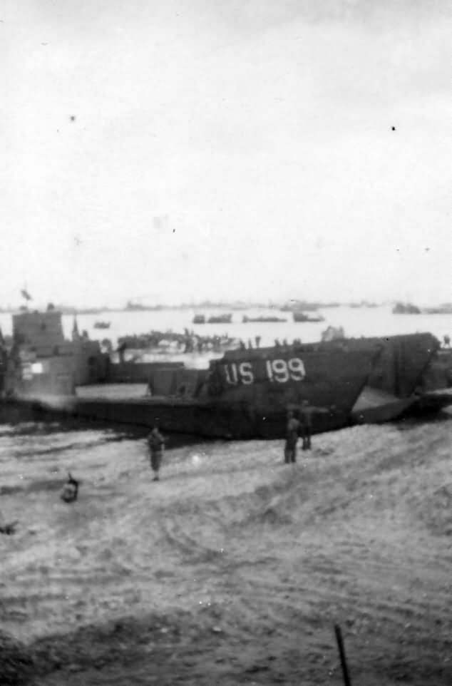 LCT 199 Landed 197th AA Omaha Beach D-Day Normandy 1944