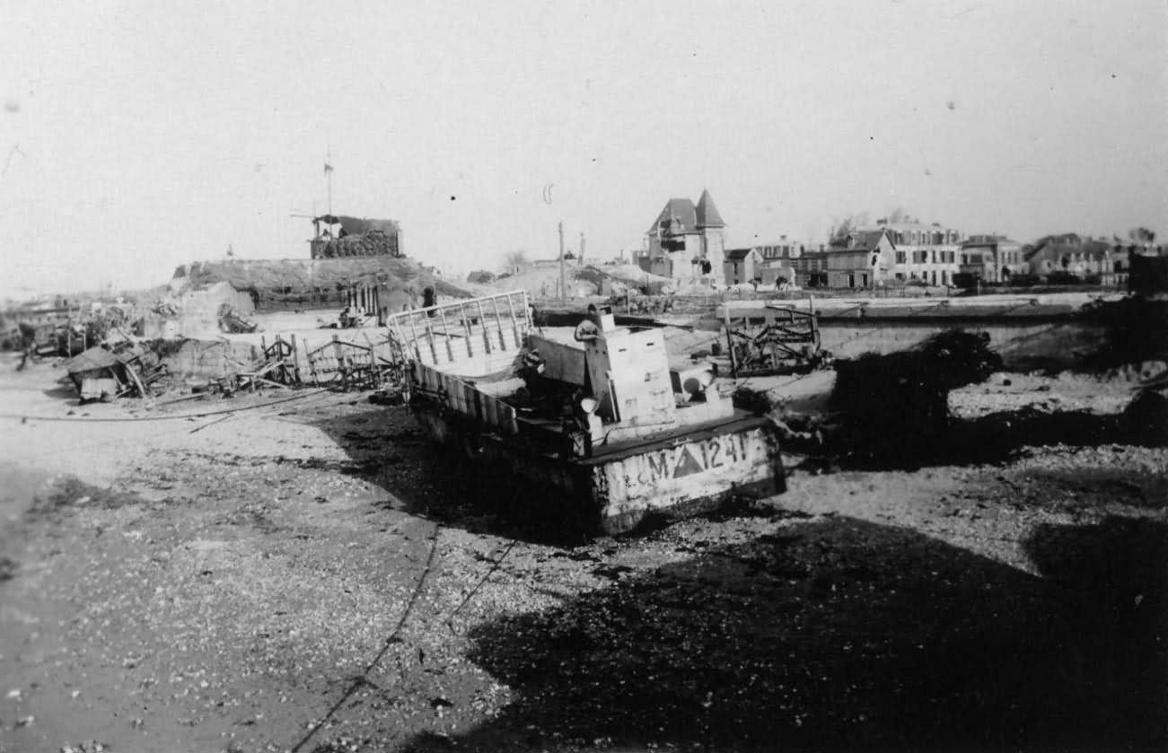 Normandy 1944 LCM Vehicles Beached Sword Beach