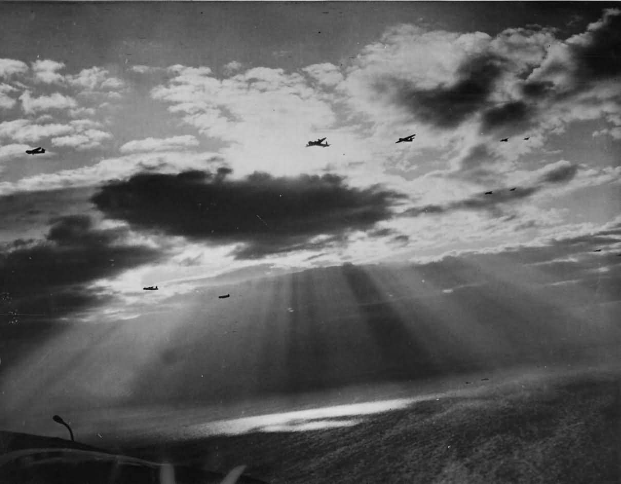 RAF Gliders and Tow Planes Head for Normandy Coast on D-Day