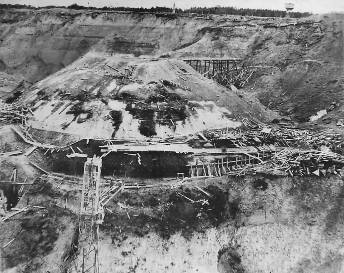 Ruins of German Underground Installations at Pas De Calais Normandy 1944