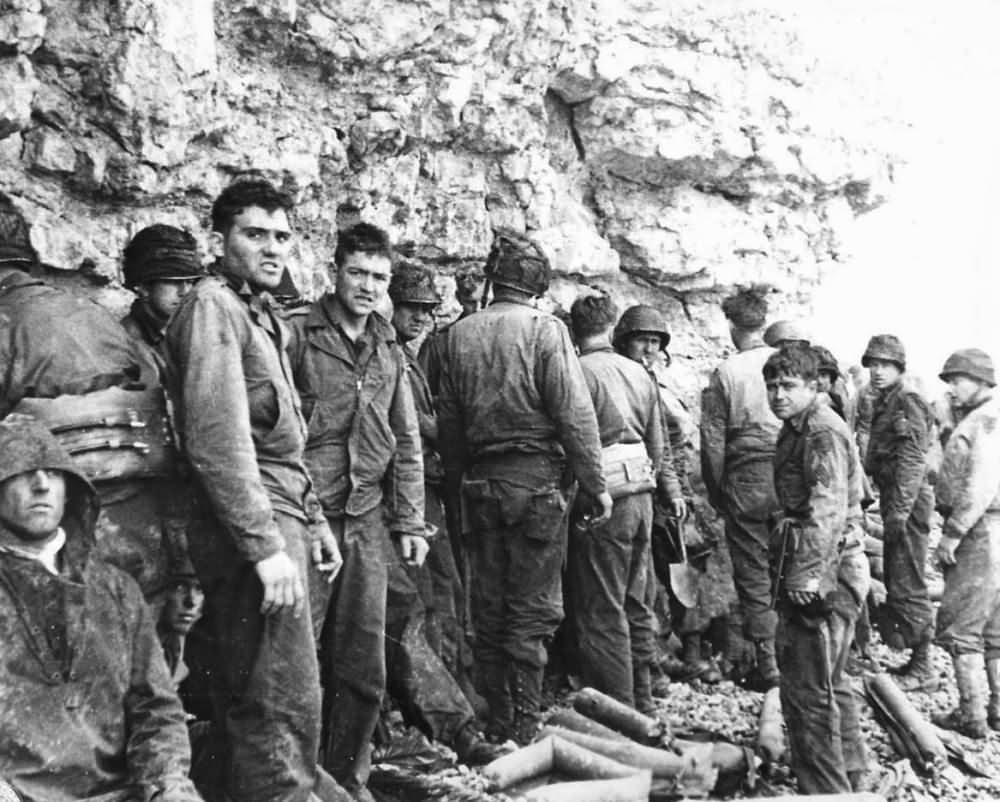 US 3rd Battalion 16th Infantry Regiment 1st Division on Omaha Beach near Colleville sur Mer D-Day