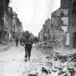 Advance Guard of US 29th Infantry Division entering St. Lo 1944