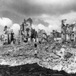 Bombed shelled ruins of Saint-Lô 1944