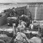 D-Day Allied Men and equipment approach French coast