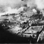 RAF daylight raid on German ammo dump near Falaise August 1944