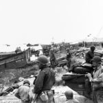 Scene on Omaha Beach soon after the D-Day landings