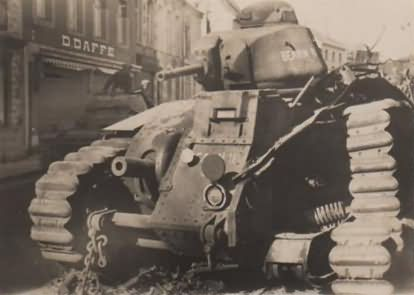 French Char B1 bis tank BEARN II in Beaumont