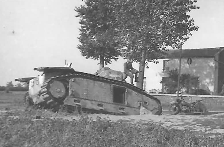 B1 bis tank #205 of the 15th BCC named INDOCHINE