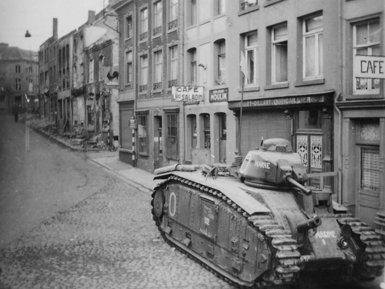B1 bis tank #332 of the 37th BCC named Marne – Beaumont Belgium 1940