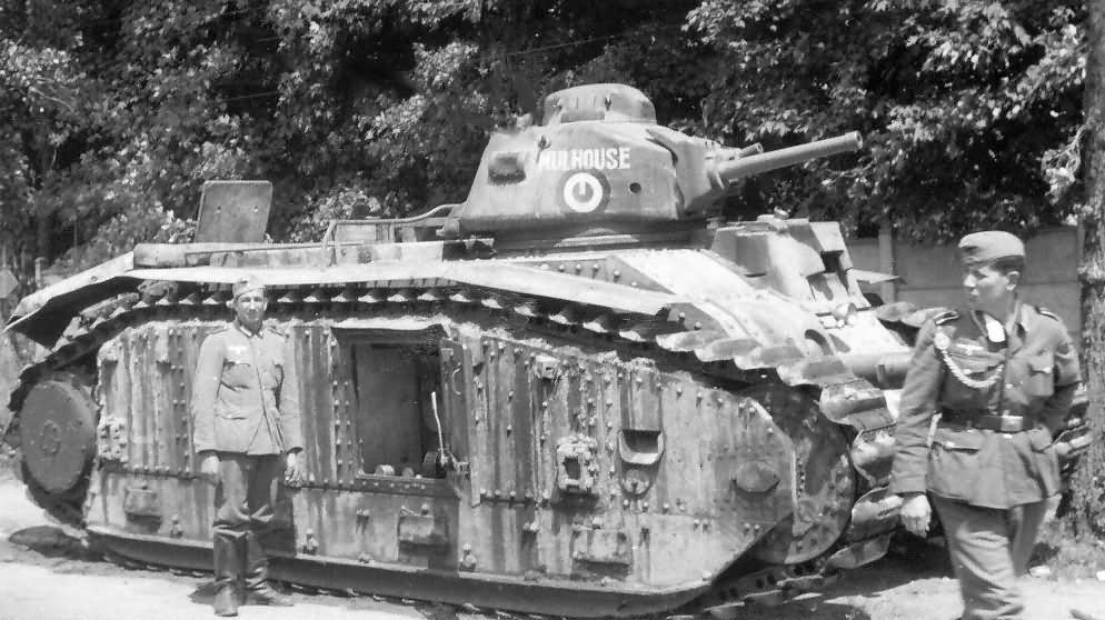 French Char B1 tank number 112 named Mulhouse