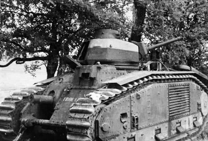 B1 bis tank number 381 of the 49th BCC named Irouleguy