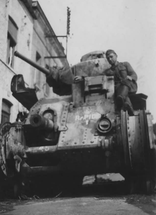 Char B1 bis tank #249 of the 8th BCC named RAPIDE 1940