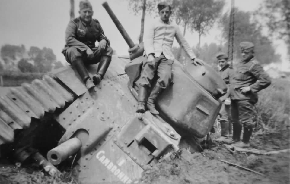 B1 bis tank number 455 of the 46th BCC named Cambronne