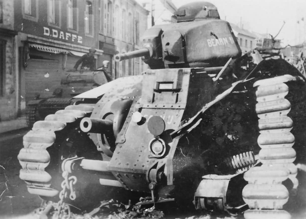 B1 bis tank #401 of the 37th BCC named Bearn II Beaumont Belgium 1940 2