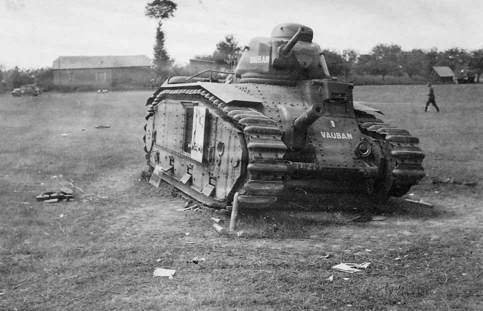 French Char B1 bis tank number 421 of the 46th BCC named Vauban