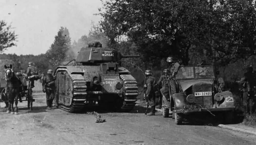 Captured French B1 Bis Tank #442 Named LIEUTENANT DE GISSAC of the 46e BCC