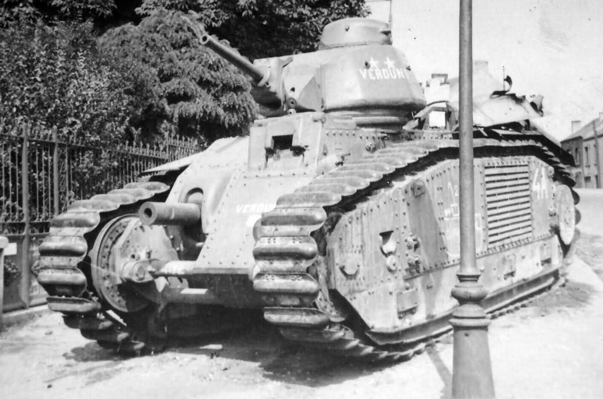 Char B1 bis 452 named Verdun II of 1st DCR front
