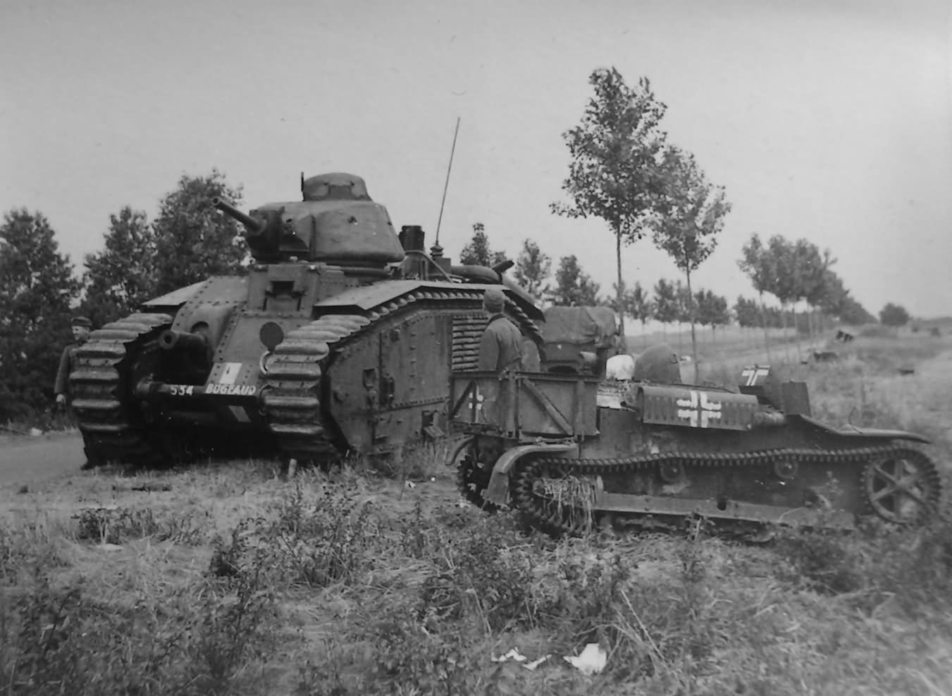 Char B1 bis Tank 534 named BUGEAUD of 28th BCC 3