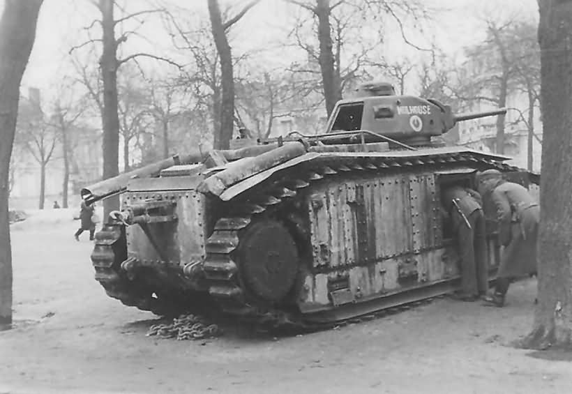 French Char B1 tank number 112 named Mulhouse 2