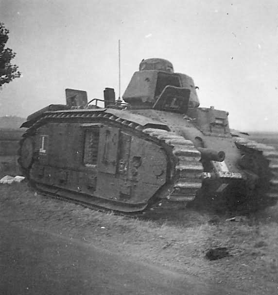 Char B1 bis Tank 534 named BUGEAUD of 28th BCC