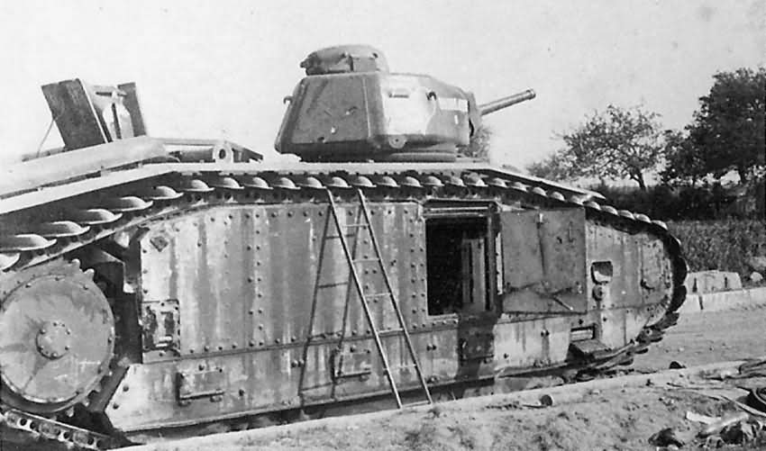 Char B1 bis tank 257 named BOURRASQUE of 15th BCC