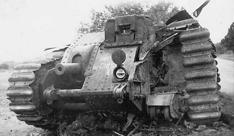 Char B1 bis tank 442 of 46th BCC named LIEUTENANT DE GISSAC