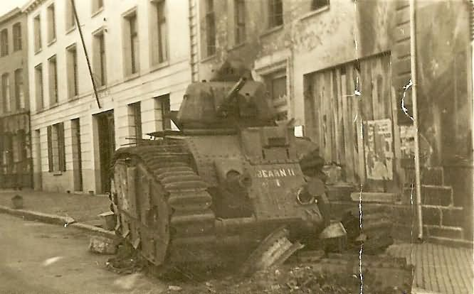 Char B1 tank number 401 of the 37th BCC named BEARN II – wreck