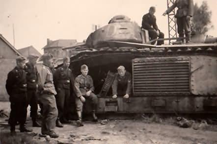 Char B1 bis Ort le Catelet Saint Quentin Aisne 1940