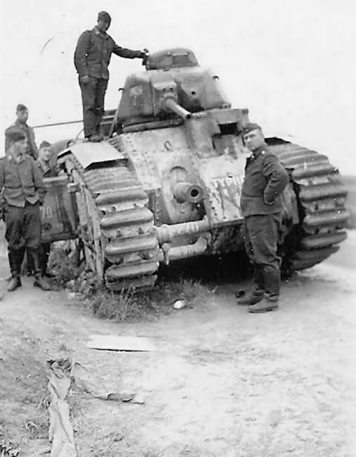 French Char B1 bis 270 named TYPHON of 8th BCC