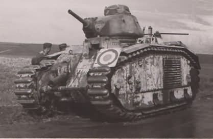 Char B1 bis tank with heart