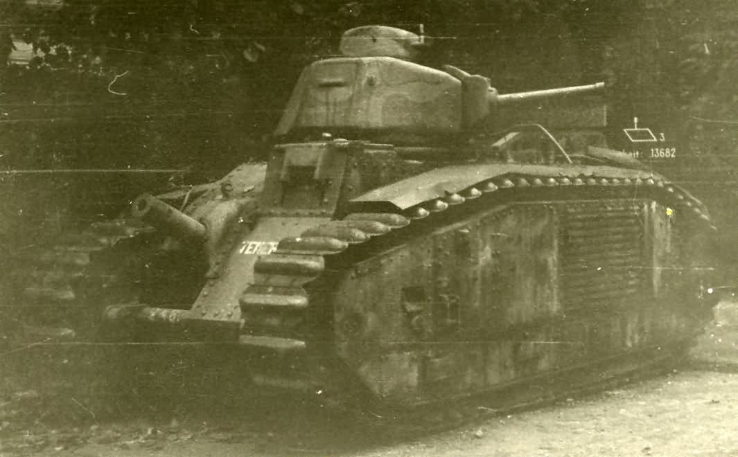 French Char B1 bis tank number 246 of the 8th BCC named Temeraire 2