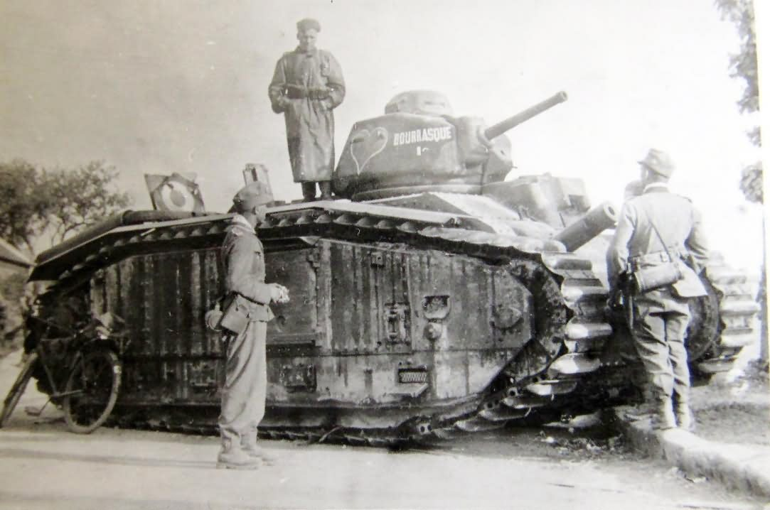 French Char B1 bis tank of the 15th BCC named Bourrasque