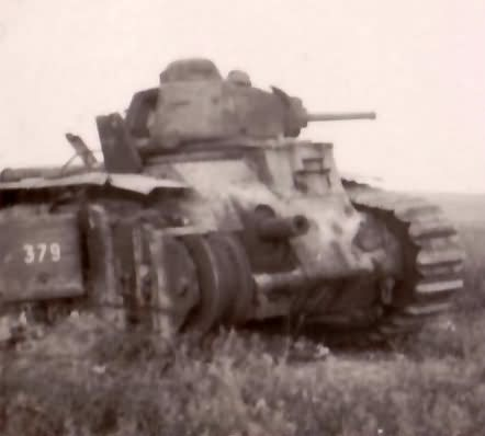 French Char B1 bis tank number 379 of the 49th BCC named Maury