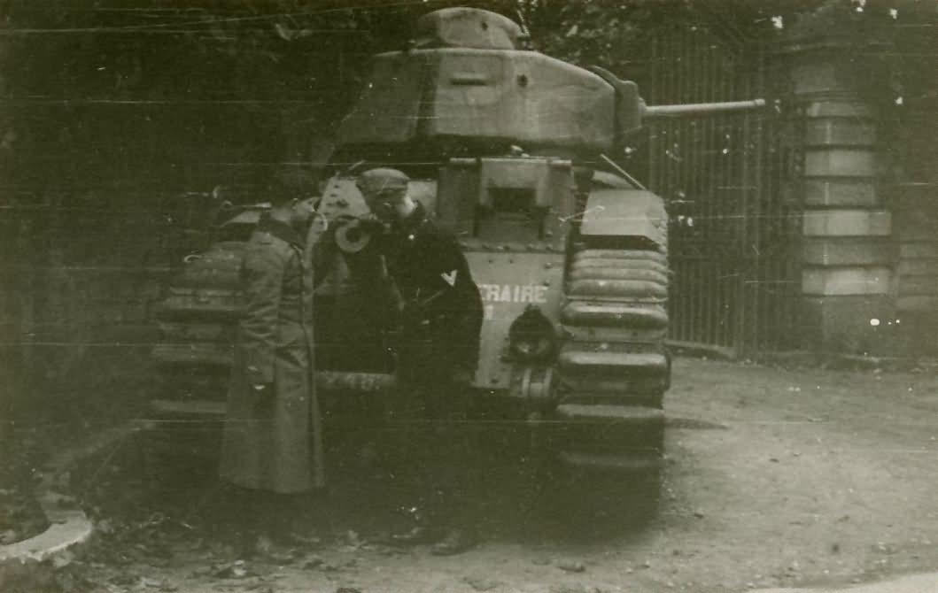French Char B1 bis tank number 246 of the 8th BCC named Temeraire