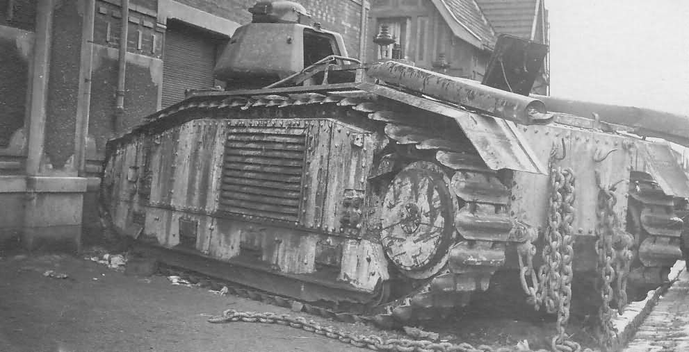 knocked out Char B1 bis