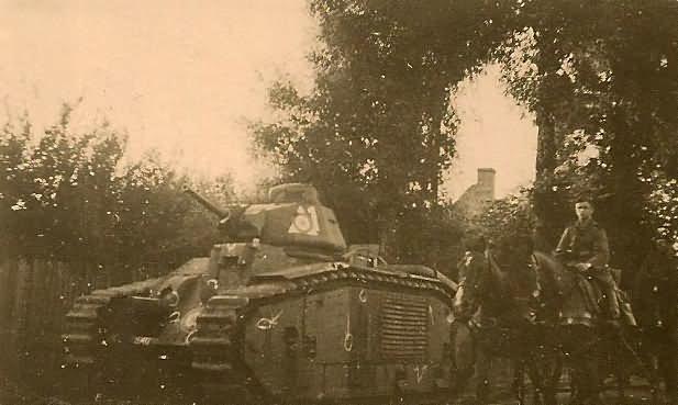 French Char B1 bis tank white 1